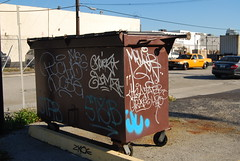 Trashed (Stalkin The Lines) Tags: trash dumpster graffiti garbage streak florida miami tag tags h2o fl graff stab msg mop greve tater visa southflorida pucho dose handstyle wynwood elems
