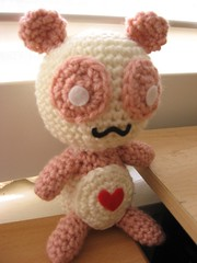 Pink Panda with Heart