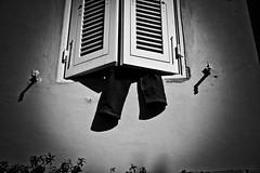 Window's legs (Federica Lomi) Tags: bw canon wow blackwhite bn finestra 7d toscana livorno bianconero montenero pantaloni flickcentral flickaday canoniani paololivornosfriends