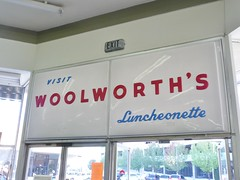 WOOLWORTH'S LUNCHEONETTE 1400 19TH ST. BAKERSFIELD CALIF. (ussiwojima) Tags: california sign advertising restaurant store woolworths department bakersfield sodafountain luncheonette