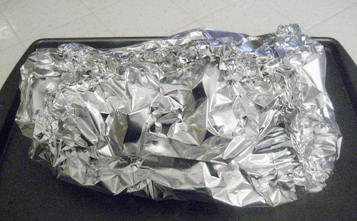 Foil wrapped peppers