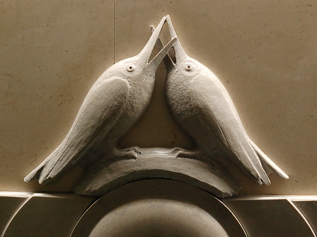 City Museum, in Saint Louis, Missouri, USA - Architectural ornament, love birds