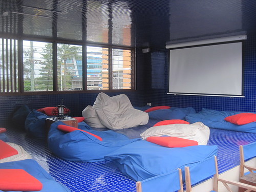 hostel movie room