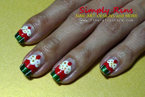 Christmas Nail Art Cupcakes 01