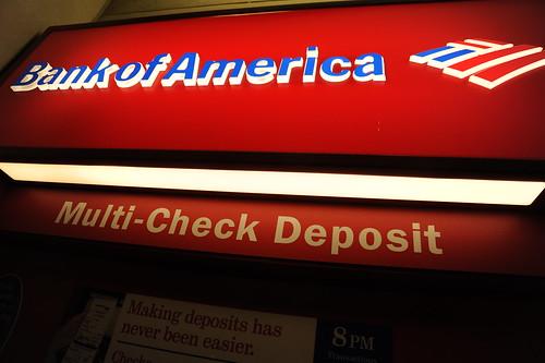 Bank of America cash machine, Multi-Check Deposit, University Village, Seattle, Washington, USA by Wonderlane