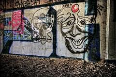face the graff (gacrichards) Tags: art face graffiti artistic tag tagged urbanart vandalism graffitiart graffitivandalism graffitiface graffititag hdrgraffiti awesomegraffiti bridgegraffiti d7000 nikond7000 nikond7k nikond7000hdr hdrd7000 graffitiarthdr photographofgraffiti hdrgraffitiface