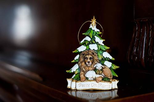 Lion and Lamb ornament