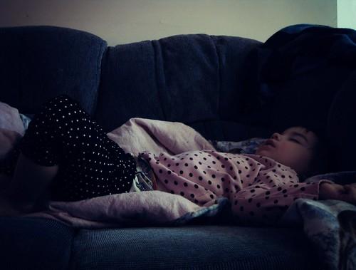 sleepy girl