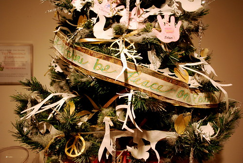 School-Decorated Tree at Museum