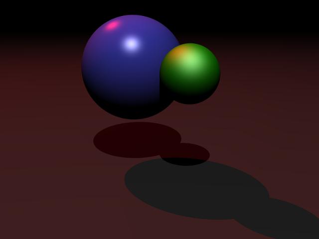 spheres on infinite plane