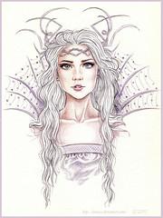 queen of ice (tania-s) Tags: woman colour ice gelo pencils de do mulher queen lpis cor rainha tradicional