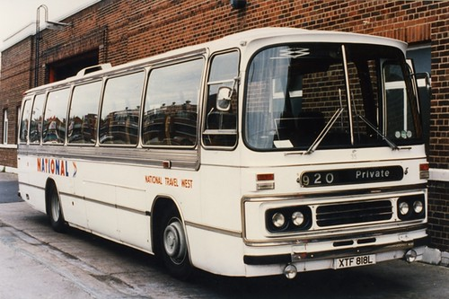 National Travel West Ex W.C. Standerwick Duple Dominant  C49F Leyland Leopard XTF 818L