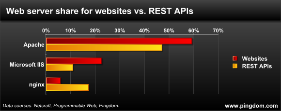 REST API vs Website web server usage