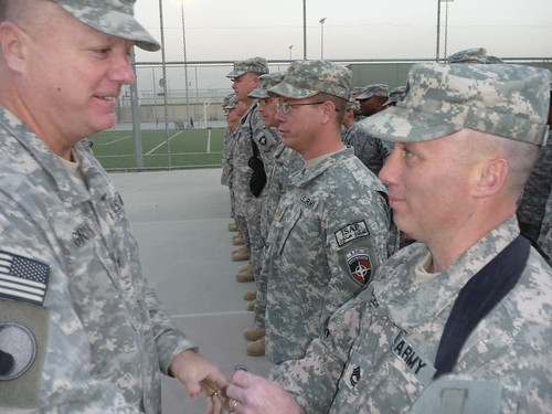 29th ID Soldiers Conduct Combat Patch Ceremony