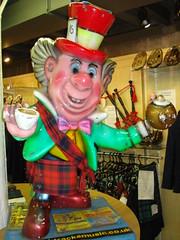 Mad Hatter Kilt & Sash Edinburgh Scotland Red Robertson tartan