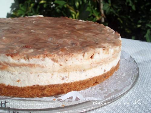 Tarta de queso con chocolate y caramelo (2)