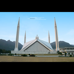 Islamabad, Pakistan (Waseef Akhtar) Tags: city travel roof pakistan light sky people white man black building tower art heritage monument wall architecture modern night vintage walking outside religious outdoors temple design hall ancient worship asia cityscape peace open view minaret muslim islam side prayer religion pray pillar culture belief mosque tourist tent structure east holy punjab middle lahore cultural stucco emperor islamic pinnacle monstrous faisal islamabad mughal