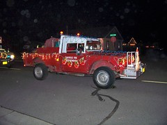 Small town Christmas parade