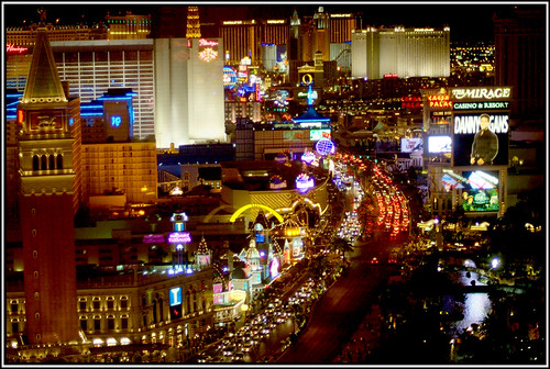 VEGAS STRIP at NIGHT