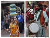 The famous Pot Dance of Rajasthan, India (Mayank Sharma renewed :D :D) Tags: street carnival blue people orange public yellow festival canon dance drum delhi culture celebration pots tradition dilli rajasthan canon50mm delhihaat purcussion potdance