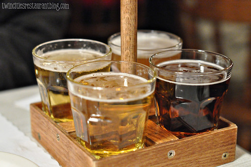 German Beer Sampler at Gasthaus Bavarian Hunter ~ Stillwater, MN