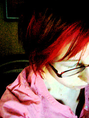 2010/19/12 (jazzijava) Tags: morning pink red selfportrait me hairdye coral photoshop project dark hair photo december skin personal pale redhead human messyhair 365 dye redhair bedhead 2010 dyejob project365 365project