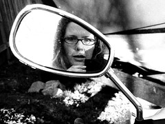 mirrors can only teach so much (shannonkringen) Tags: seattle blackandwhite bw monochrome canon powershot canonpowershot g12 shannonkringen goddesskring canong12 canonpowershotg12
