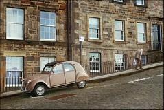 Sad about Blake Edwards (Sator Arepo) Tags: street leica sadness scotland edinburgh hill memories citroën cine 2cv edimburgo dlux hunchback pavestones fzfave dlux4 superretofez2010