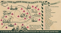 Your Souvenir Guide to Santa's Village (The Pie Shops Collection) Tags: california vintage map santaclaus santasvillage