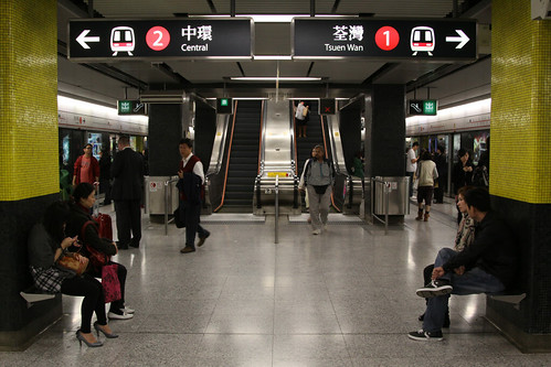 Platform level at Tsim Sha Tsui station