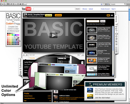 Youtube Background Template by