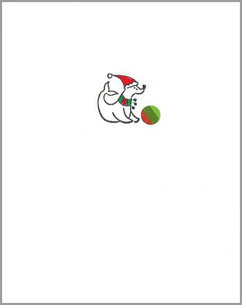 xmas card: seal