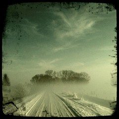 Driving Home (Nico Brons) Tags: road winter snow cold car driving nrc jackalope iphone winterinholland iphone3gs alliphone