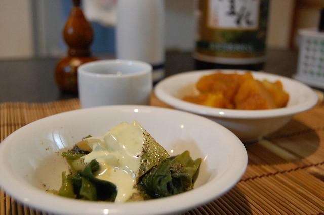 ネギのコンソメグラッセで熱燗が美味い。 #jisui