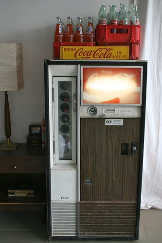 Coke Machine as Fridge
