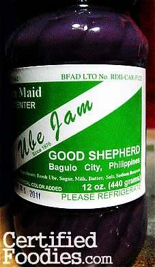 Mountain Maid Good Shepherd Ube Jam from Baguio - CertifiedFoodies.com