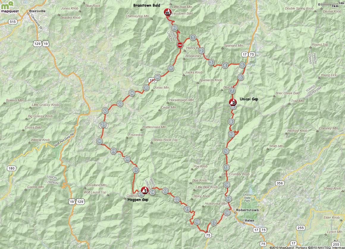 Brasstown Loop Map