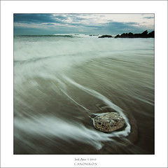 Stone Free (saki_axat) Tags: longexposure sea sky seascape beach nature water stone clouds landscape rocks wave filters azkorri gnd8