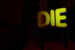 (will-sutton) Tags: yellow writing dark words die creepy bigletters