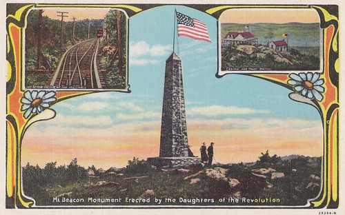 MT Beacon DAR Monument with insets of Incline Railway