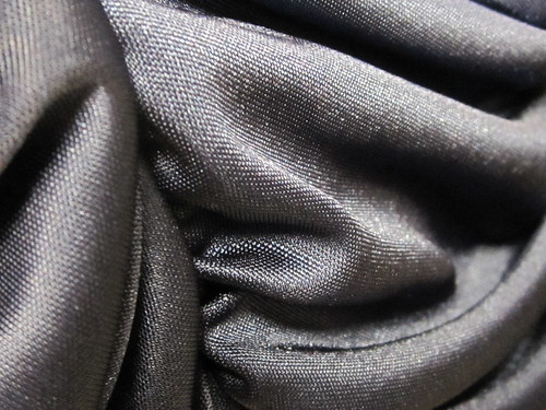 Folded Black Satin Fabric
