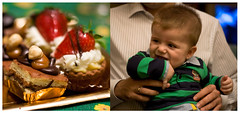 Fun time (Kris *) Tags: christmas cakes canon de fun 350d navidad kid diptych december time sweet primo cousin niño diciembre dulce diversión 2010 darío tiempo pasteles díptico xkrysx