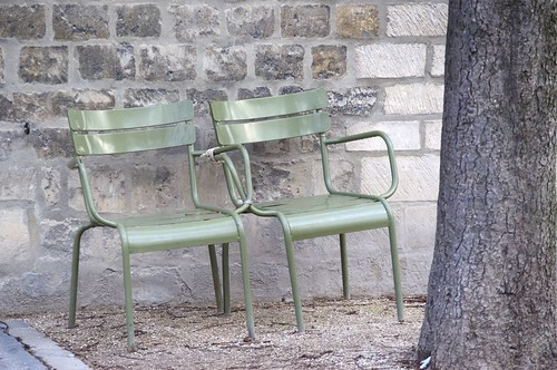 Chair love at Luxembourg Gardens, Paris