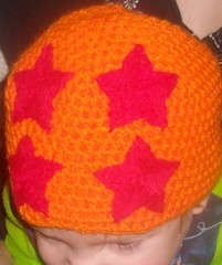 Dragon Star Hat (lavstarlight) Tags: orange anime hat ball star costume cosplay 4 crochet lavender z beanie dragonball geekery accessory starlight knightsocoffe