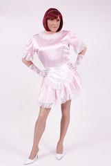 Fancy dress again. (Paula Chester) Tags: ruffles apron sissy pinafore pinny domesticated frenchmaid sissymaid schort sissymaidsapron