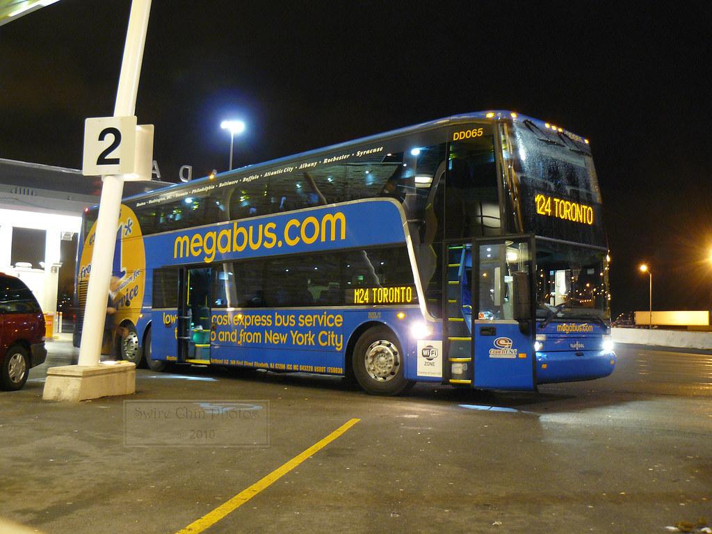 Toronto-bound Megabus Double Deck Coach