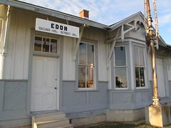Edon, Ohio (birchloki) Tags: ohio building buildings trainstation trainstations edon edonohio