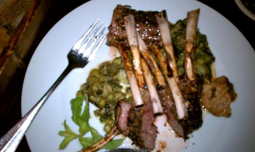 rack of lamb...delish!