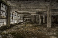 Highway Warehouse (billmclaugh) Tags: abandoned industry architecture photoshop canon rebel industrial factory 19thcentury tokina belfry smokestack urbanexploration exploration peters postprocess 1224mm cartridge 70200mm urbex munitions early20thcentury promote photomatix peterscartridgefactory xti promotecontrol