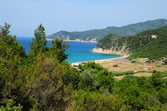 Skiathos beach (Bradclin Photography) Tags: trees beach outdoors quiet empty bluewater peaceful deserted skiathos isolated
